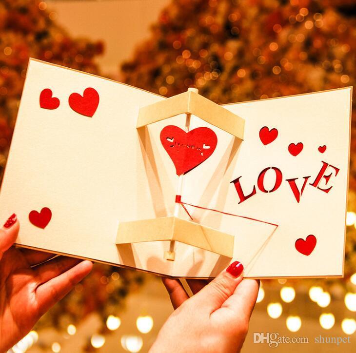 3d Pop Up Love Carte De Voeux Saint Valentin Carte Postale Pour Petit Ami Petite Amie Noël Anniversaire Nouvel An Invitation