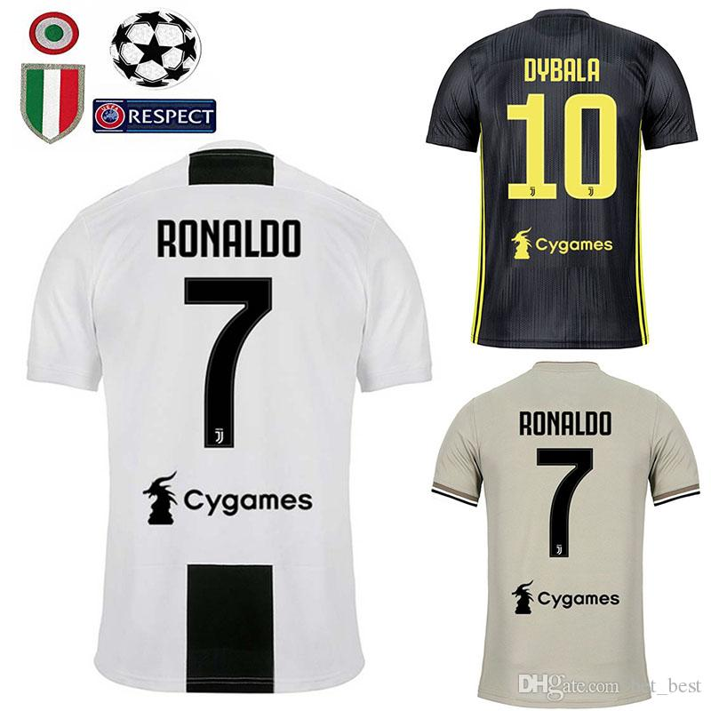 new style 8e662 3ce68 18 19 Juventus Soccer Jersey kit 2018 2019 juve 7 RONALDO 9 HIGUAIN 10  DYBALA 11 D. Costa 17 MANDZUKIC BUFFON third Football shirt uniforms