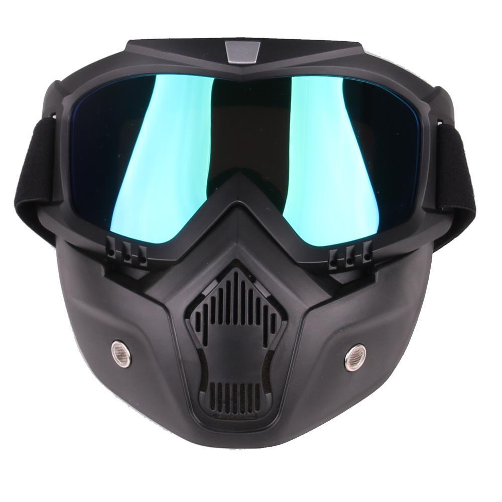 Compre Óculos De Esqui Das Mulheres Dos Homens À Prova De Vento Óculos De Snowboard  Óculos De Vidro De Motocross Com Proteção Máscara Facial Proteção UV De ... 0e92be785a