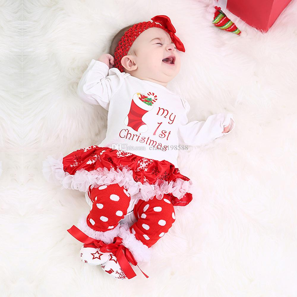 bab41629ce1485 2019 Christmas Baby Clothes Snowflake Long Sleeve Newborn Infant Romper  Dress 2019 New Year 0 24 Months Baby Girl Clothing Set From Elaine198588,  ...