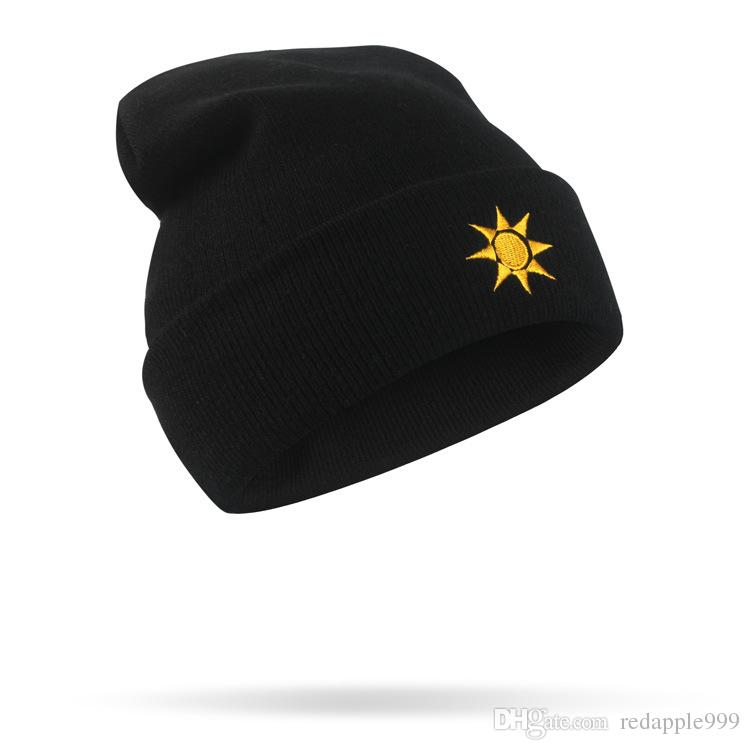 17cd733ea25 New Designer The Weather Embroidery Beanie Hats Sports Cool Cap Hip Hop  Winter Head Warmer Hats For Adult Mens Womens Fancy Acrylic Snow Cap Knit  Beanie Cap ...