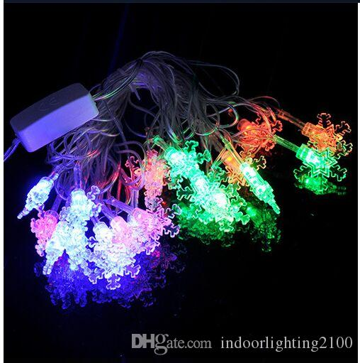 4M 20Lights AC110V / 220V Led Little Snowflake Lamp Strings Halloween Decoración de Navidad Festival Night Lights Strings led Iluminación de Flash