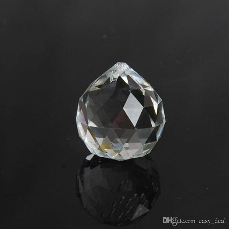 30mm De Vidro De Cristal De Quartzo Facetado Bola Paperweight Pedras Naturais Minerais Cristais Feng Shui Bolas Decoração de Casa ZA5845