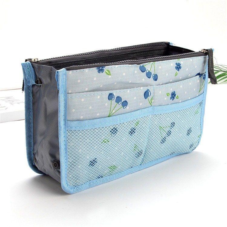 Сумка двойной молнии большая с многофункциональной сумкой макияжа сумки упаковки небольшой для того чтобы получить внутренний пузырь.