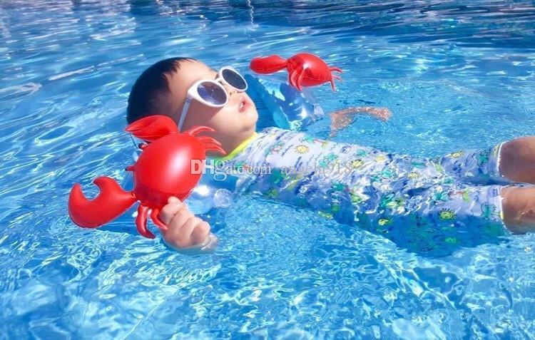 Baby Swim Arm Circle Crab pineapple Cherry Flamingo PVC Inflatable Float Arm Circle children Swim Sleeves Swim Ring H003