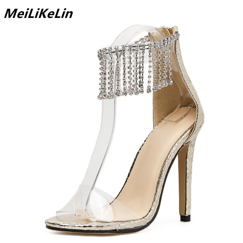 69ffaf712a9 Wholesale 2018 Luxury Crystal Curtain Women Sandals Clear PVC High Heel  Gold Sandals Woman Platform Wedge Rhinestone Sandals 40 Wedges Shoes Nude  Shoes From ...