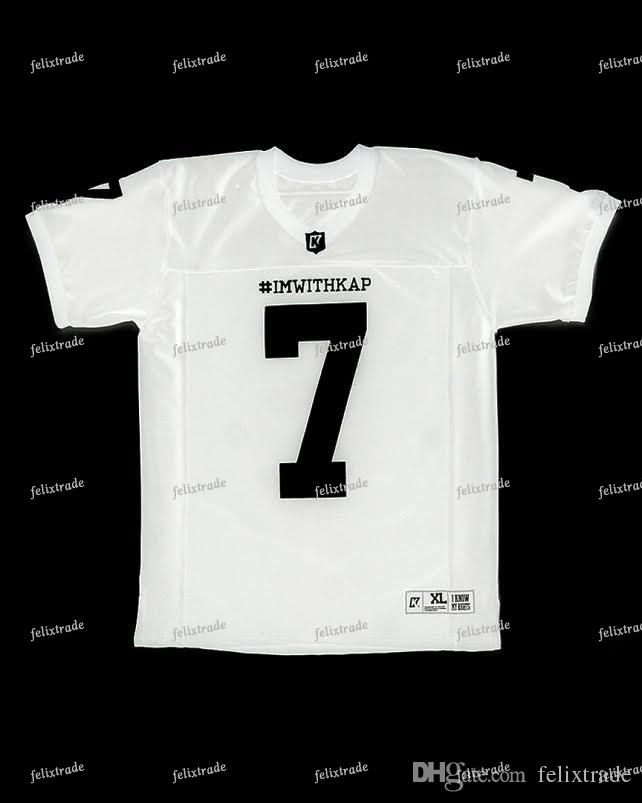 quality design 048bc 8a87c White COLIN KAEPERNICK IMWITHKAP JERSEY I M WITH KAP Mens Women Youth  Football Jersey Double Stiched High Quanlity Sport Shirt Free Shipping