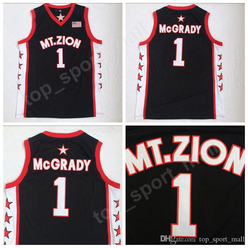 f96523235b4a 2019 Men College Tracy 1 McGrady T Mac Basketball Jersey Cheap Christian  MT.ZION Jerseys For Sport Fans Embroidery Breathable Good Quality From ...