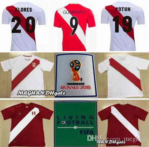 Peru 2018 World Cup Jerseys Home Away Top Thai Quality GUERRERO ... dd5e26a73