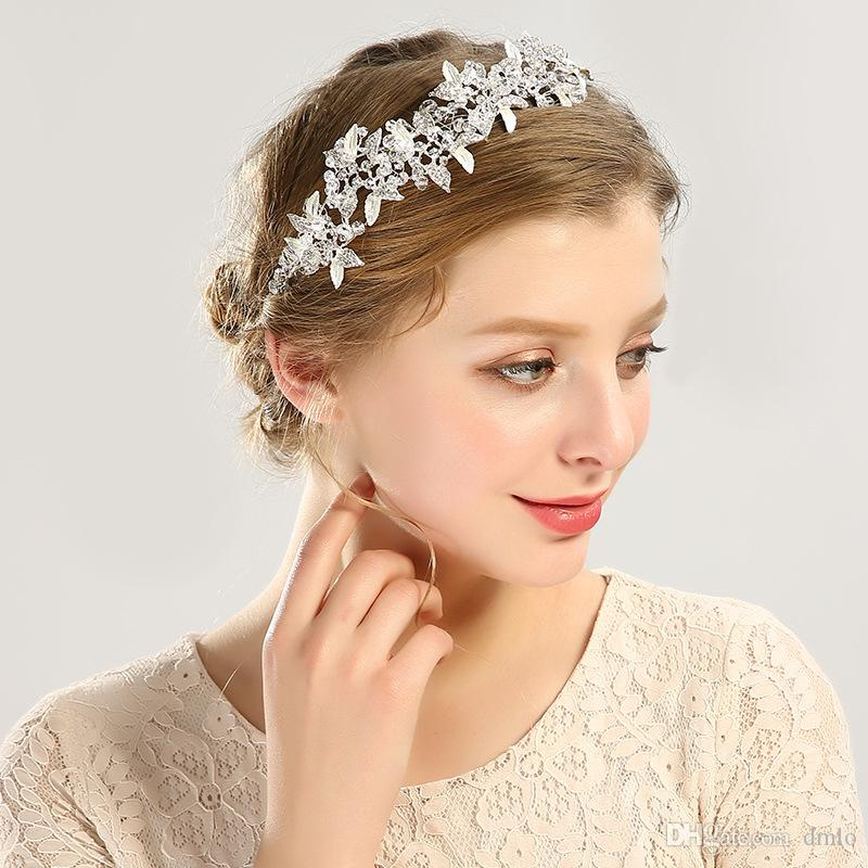 Cystal Bridal Wedding Hair Bands Bride Women Hairbands Headbands Silver Wedding Dress Bridal Headpieces Hair Bands Hair Jewelry Accessories