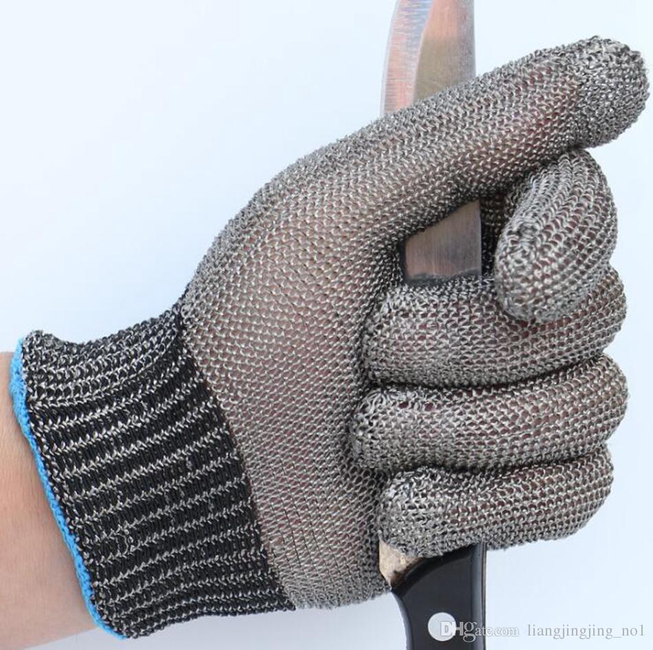 سلامة خفض مقاومة طعنة قفازات المعمرة المقاوم للصدأ شبكة معدنية جزار العمل قفازات خفض قفازات مقاومة 30 قطع OOA4782