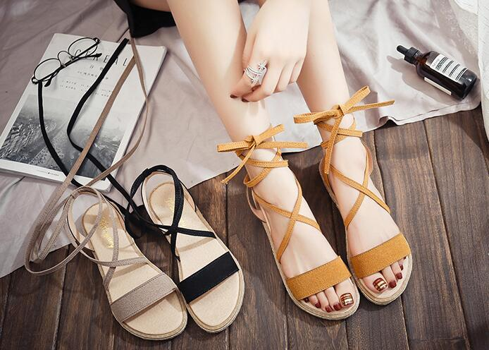 ccd1c3c012a0 2018 New Sandals Female Summer Flat Wild Summer Retro Ladies Sandals Shoes  Tide Femalel Sandals Online with  23.95 Pair on Wangjingcai2 s Store