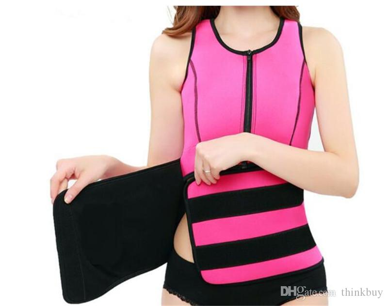 92d197840f3 2019 Waist Cincher Sweat Vest Trainer Tummy Girdle Control Corset Body  Shaper For Women Plus Size S M L XL XXL 3XL From Thinkbuy