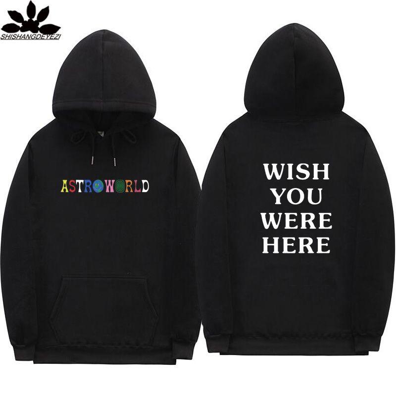 vendita calda online 714de b085f Travis Scott Astroworld WISH YOU WERE HERE hoodies fashion letter print  Hoodie streetwear Man and woman Pullover Sweatshirt