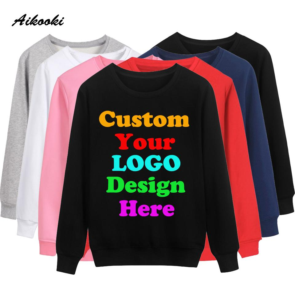 Custom Sweatshirt Hoodies Logo Text Print Men Women Personalized Polluver Customize  Hoodies Company Promotion AD Apparel Clothes UK 2019 From Pinafore e5db53813