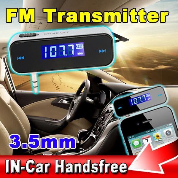Reproductor de audio estéreo LCD inalámbrico de 3.5mm para automóvil en el automóvil, reproductor de audio estéreo para iPhone 6 Pus iPod Touch Galaxy S6 MP3 MP4