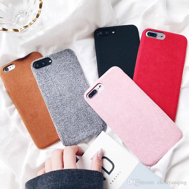 pretty nice 6fc88 6031f For iPhone 7 6plus 8 Case Luxury Warm Fuzzy For Apple 10 Cell I Phone Cute  Crystal Soft TPU Back Cover Cases