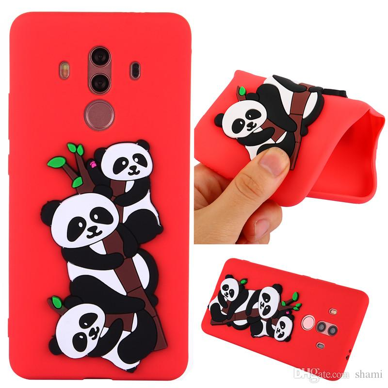 for huawei mate 10 pro p8 lite 2017 gr32017 3d 3 cute carton pandas goophone phone case silicone soft tpu full cover caus
