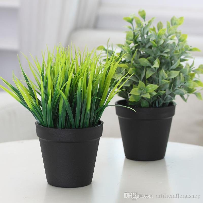 23cm Artificial Grasses Potted Plants Faux Fake Plants Greenery For Home  Garden Outdoor Indoor Office Bathroom Ornaments Decorations Artificial  Plants ...