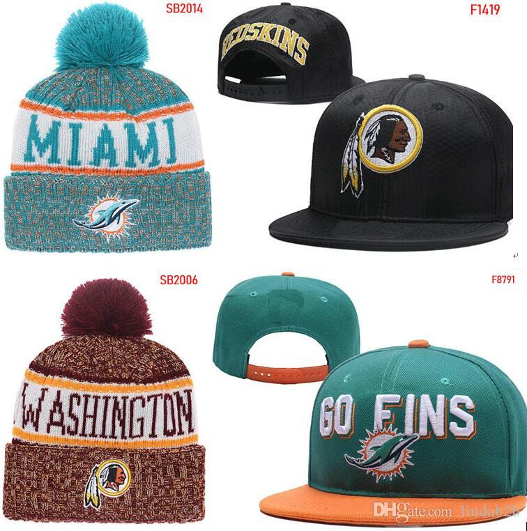 bb5137f577e20 2019 2019 Redskins Hat Snapback Cap Miami Beanie All Teams Men Women Knitted  Giant Beanies Wool Hat Man Knit Bonnet Beanie Gorro Warm Cap From Lindab2b