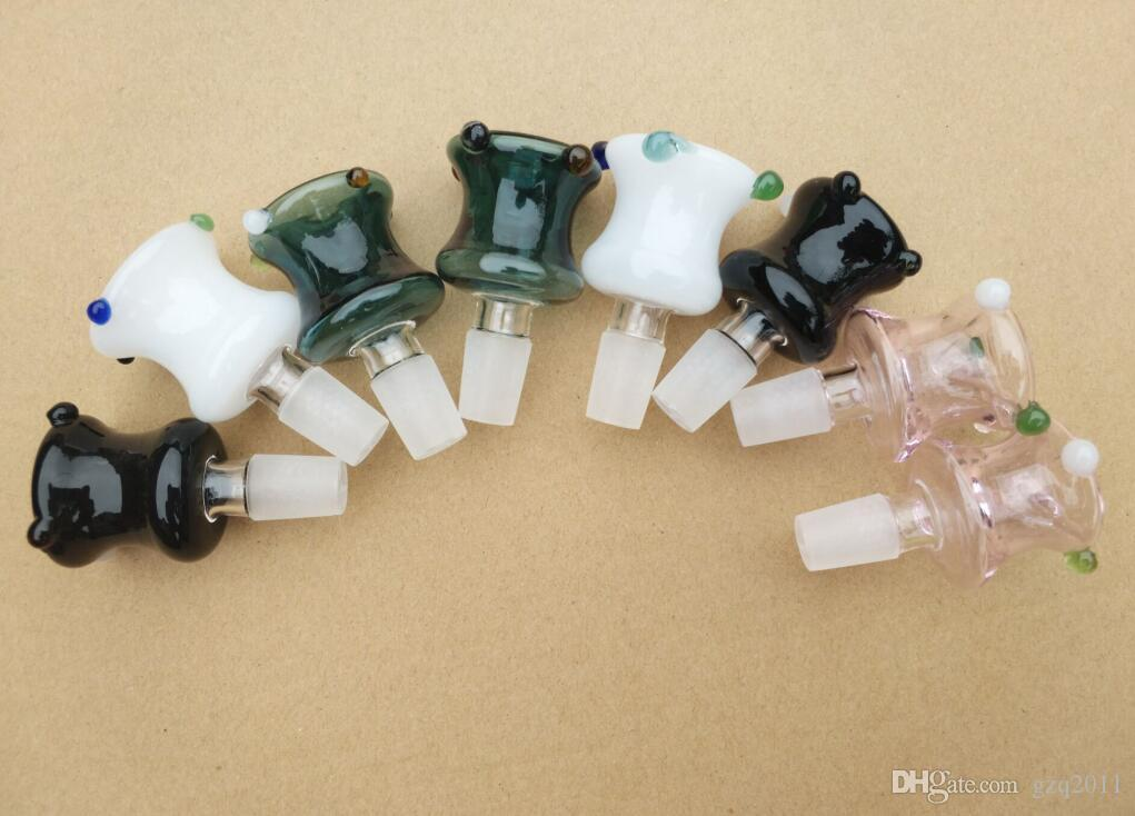 Цветные новые пузырь пушка головы, аксессуары оптом стеклянные бонги, стекло для курения трубы