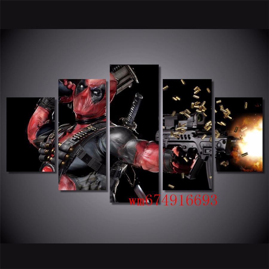 Satın Al Deadpool Maske Silah Otomatik 5 Parça Ev Dekorasyonu Hd