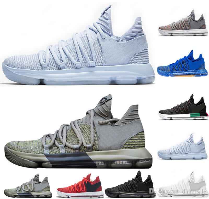 save off 3a18e 1883e ... greece zoom kd 10 anniversary pe bhm red oreo triple black white men basketball  shoes kd