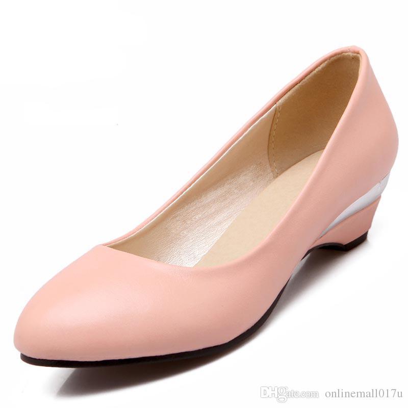 414f0e0529c0a6 Femmes Escarpins Chaussures Compensées Automne New Elegant ...