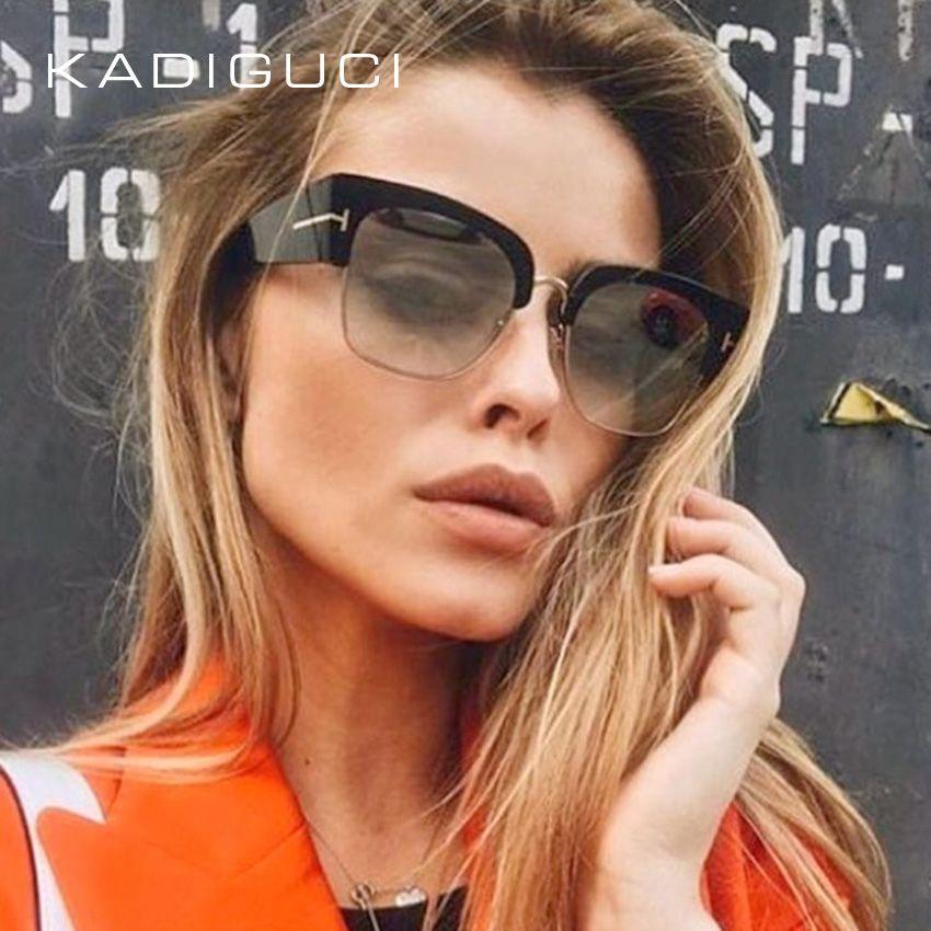 46a0cdabfe KADEGUCI Hot Fashion Women Cat Eye Style Sunglasses Brand Designer ...