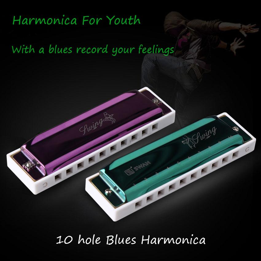 Diatonic Harmonica 10 Holes Blues Harp C Key Mouth Organ Kids Adult Students Beginners Gifts Quality Wind Musical Instruments