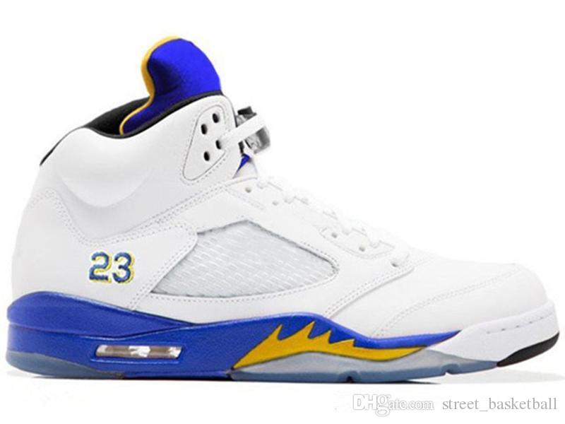 buy online f55b9 ddd70 Light Aqua Laney 5s Men Women Basketball Shoes 5s International Flight Blue  Red Suede White Cement OG Black Designer Sport Sneaker Size 5 13  Basketballs ...