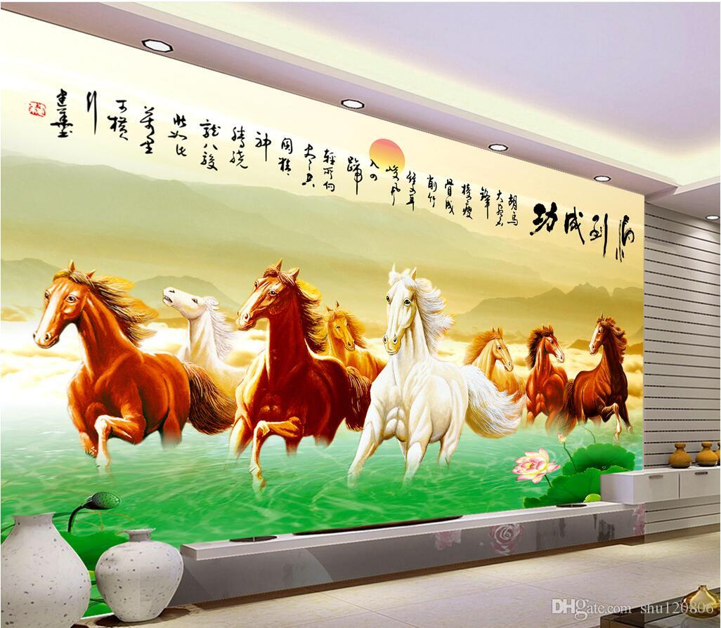 3d Wallpaper Custom Photo Mural Horse Galloping Tv Background Wall Working Of 3 D Living Room Home Decoration Murals For Walls Widescreen High