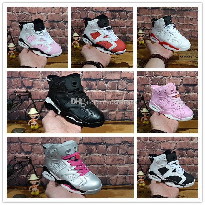 timeless design 68e47 e26ce Compre Nike Air Jordan Aj6 2018 Niños 6 Zapatillas De Baloncesto Para Niños  Niñas ReTro Carmín Infrarrojo 6s UNC Toro Hare Oreo Maroon Zapatillas De  Deporte ...