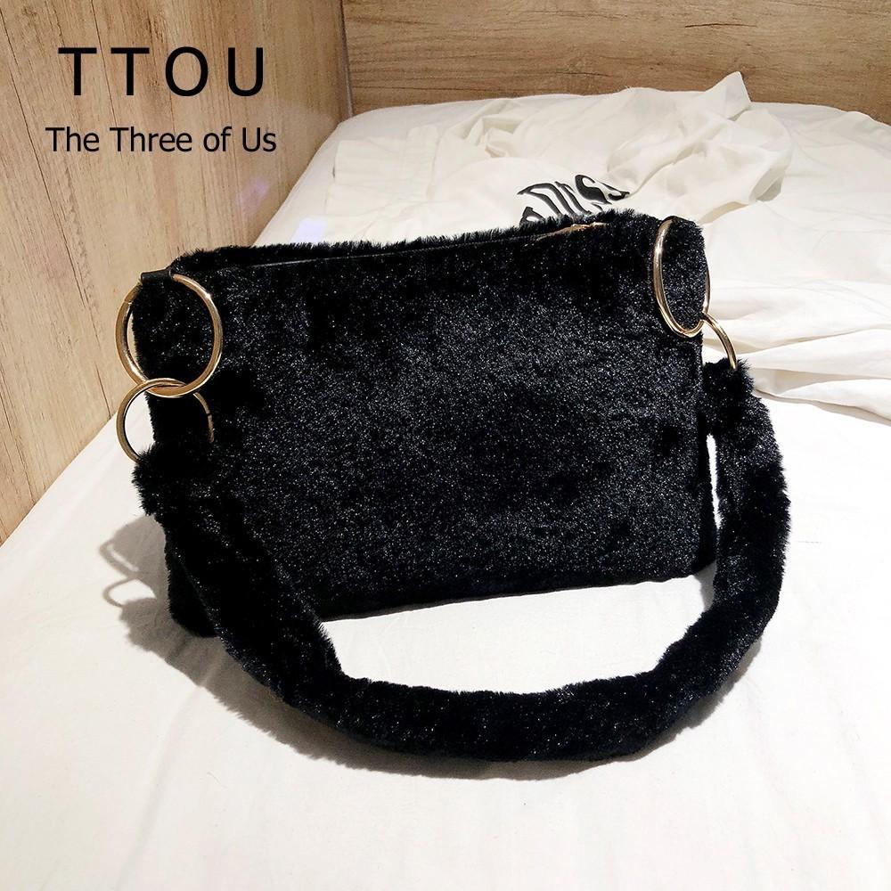 ef2e83114f19 TTOU Fashion Faux Fur Women Messenger Bag Luxury Winter Leopard Shoulder Bag  Casual Female Crossbody Bags Bolsa Feminina Hand Bags Shoulder Bags From ...