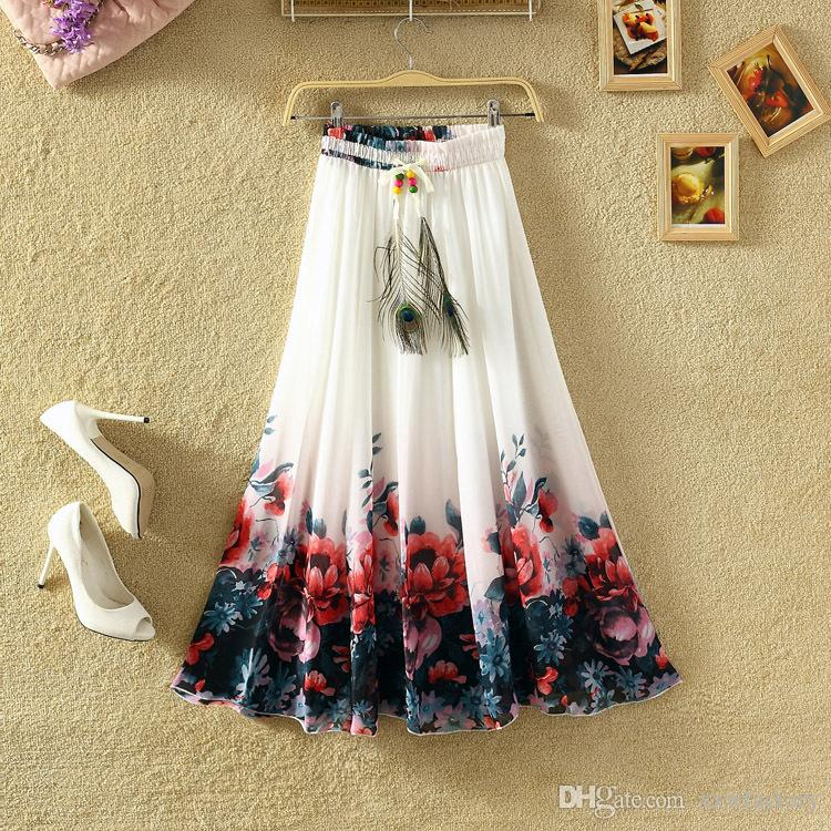 bc0274c54 2019 Simplee Tassel Floral Print Long Skirt Women Button Tie Up Beach Maxi  Skirt 2018 Casual Streetwear Boho Summer Skirt Female From Xxwfactory, ...