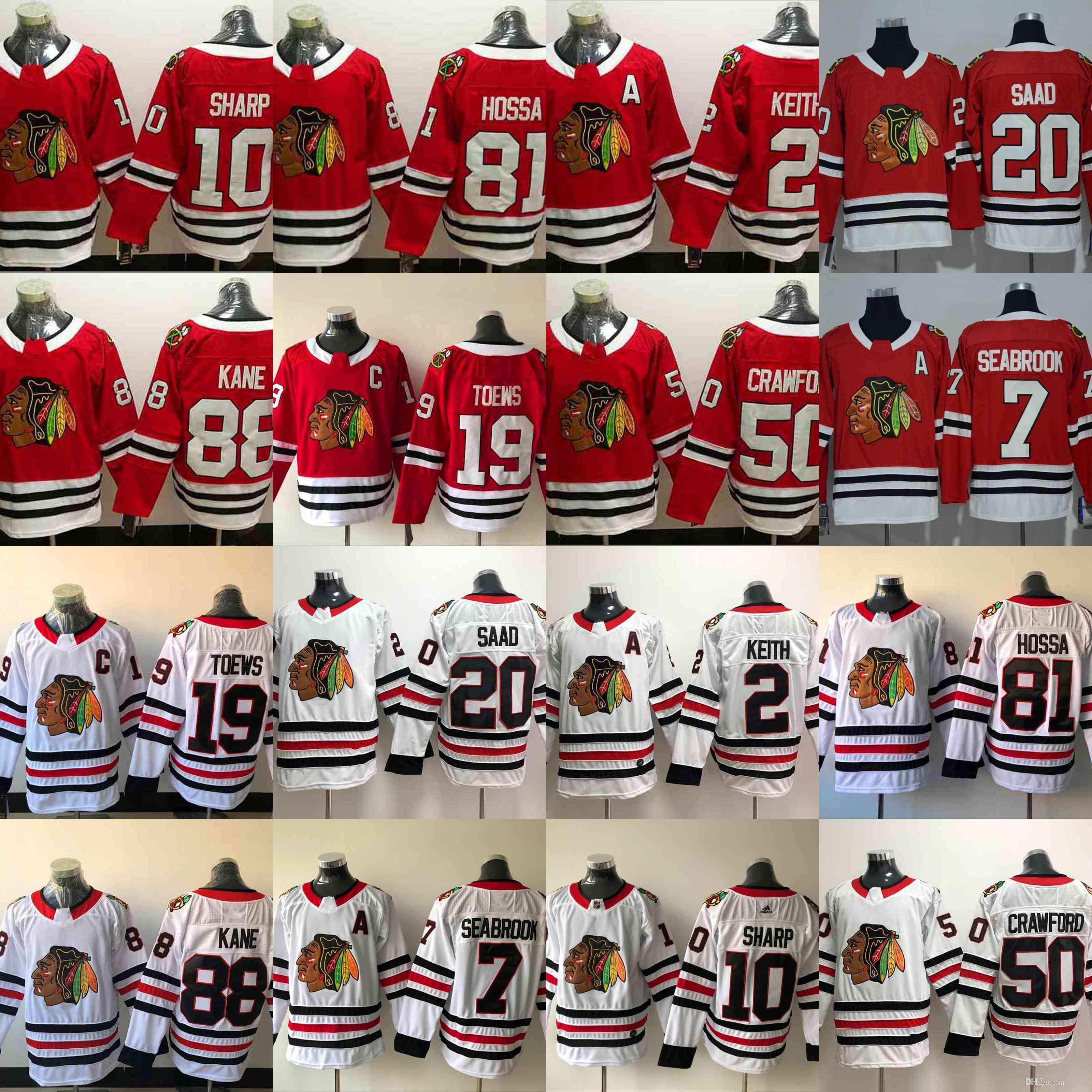 7a55ae4ff 19 Jonathan Toews 2018 Chicago Blackhawks 88 Patrick Kane 2 Keith 7 ...