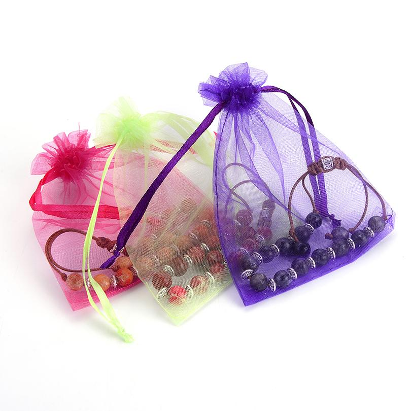 Wholesale Organza Bags 7x9 9x12 10x15 13x18cm Brand Wedding Packaging Gift Bag Party Decoration Jewelry Bags pouches