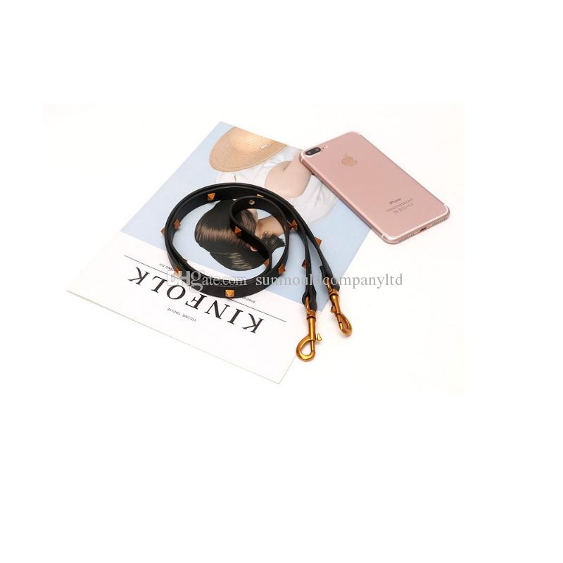 Brand pu leather vintage black Rivet Strap for shoulder bag belts handbag women bags strap bag accessory bags parts