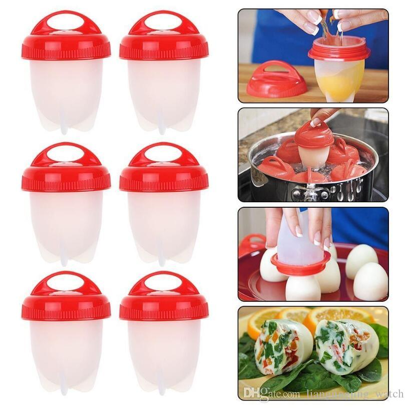 Egglettes Maker Egg Cooker Silicone Hard Boiled Eggs without the Shell Eggies 6pcs/set 10 Sets OOA4746