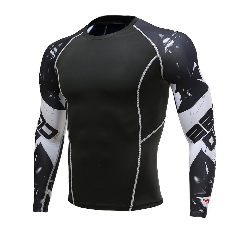 Compre Corredores De Fitness Dos Homens Calças Justas De Manga Comprida T  Shirt Camadas De Base De Ciclismo Homens Pele Térmica Jerseys Camisas De ... 4ab89eb25777c