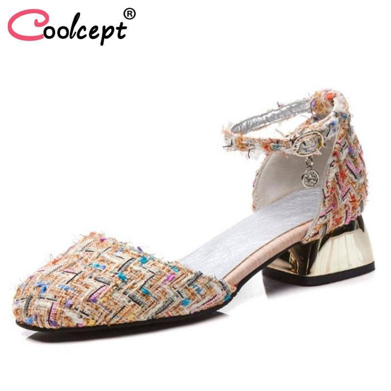 dcb2647fa Wholesale Size 32-48 Elegant Women High Heel Sandals Square Toe ...