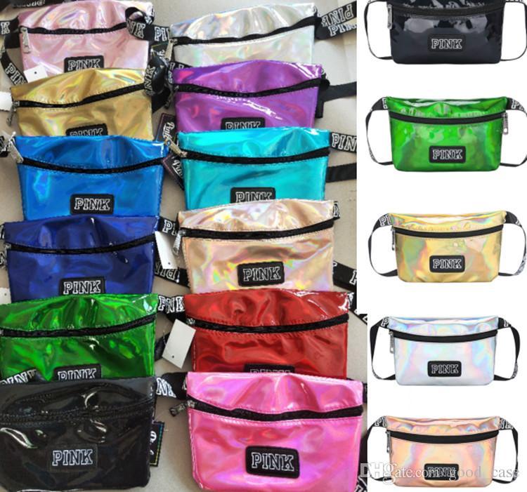 Pink Waist Bag Laser Beach Travel Pack Fanny Love Pink Transparent ... 861785ed185ae