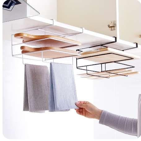 Multi Functional Cabinet Door Towel Rack Cutting Board Holder Towel
