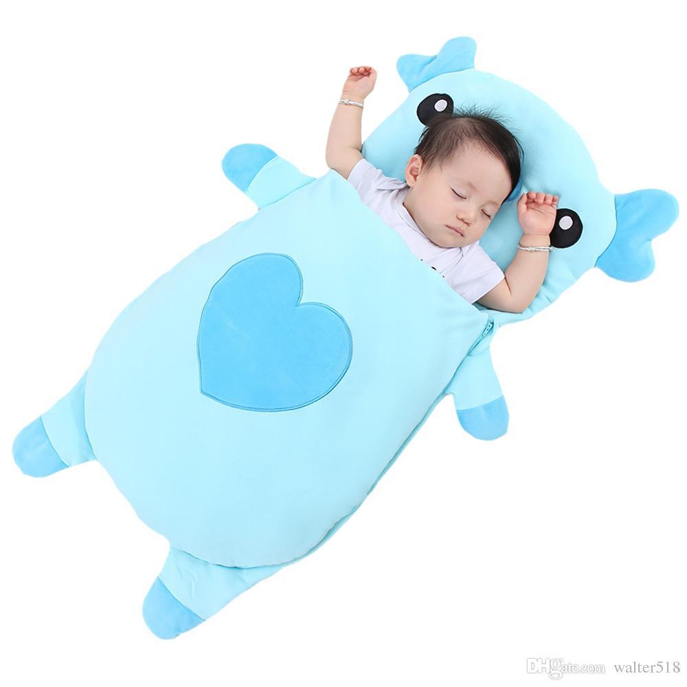 Bebek yatak Bebek uyku tulumları Çocuklar uyku çuval bebek Yürüyor uyku tulumu karikatür hayvanlar uyku tulumu sevimli domuz XHY028