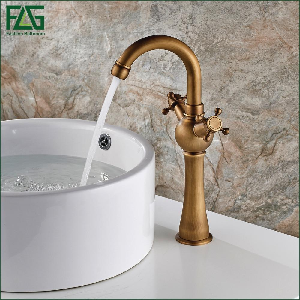 2018 European Nordic Retro Basin Faucet 100% Copper Retro Antique ...