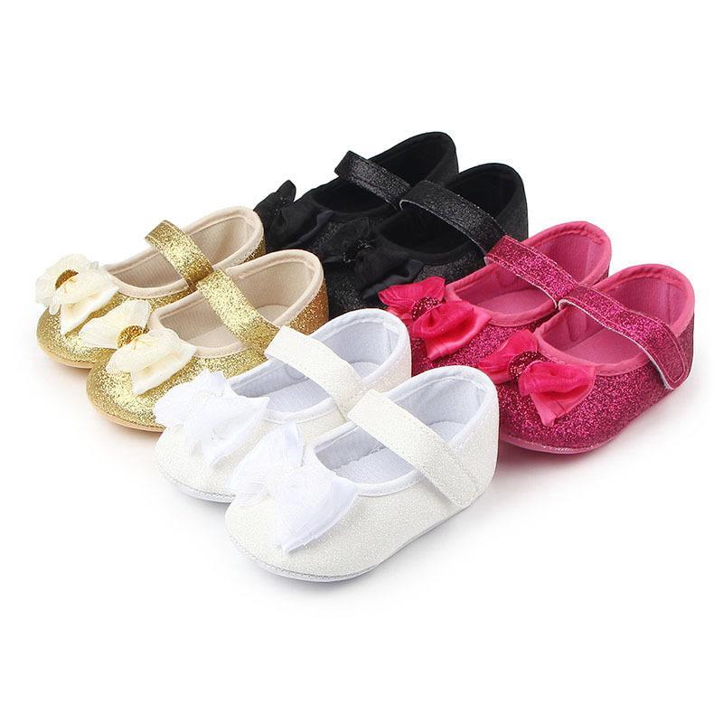 e4fdf6046fd81 Acheter Enfant Fille Chaussure Fourrure Flock Berceau Chaussures Bébé Fille  Robe Chaussures Princesse Infantile Semelle Souple Pour 0 18 Mois Bébés De  ...