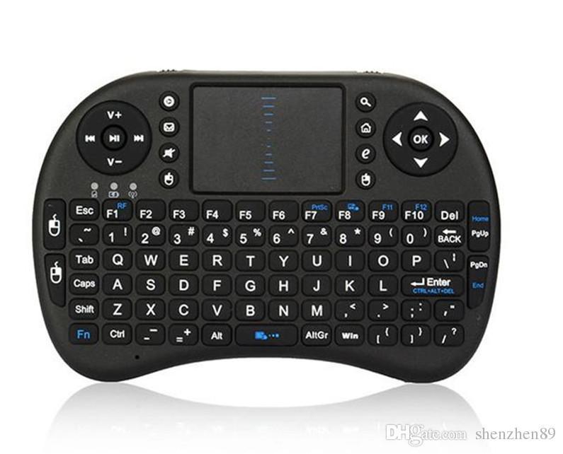 مصغرة لاسلكية لوحة المفاتيح Rii i8 2.4 جيجا هرتز لوحة المفاتيح ماوس الهواء التحكم عن بعد لوحة اللمس لالروبوت صندوق التلفزيون 3D لعبة الكمبيوتر اللوحي