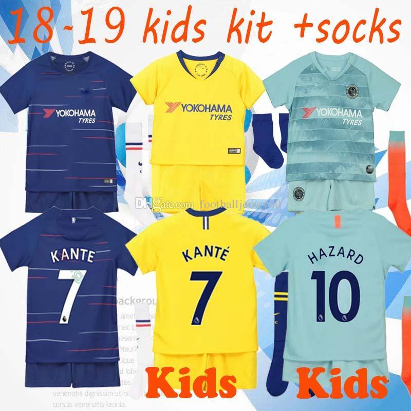 e24877620 2019 Aaa Kids Football Kits 2018 19 10 Hazard 9 Morota 22 Willian