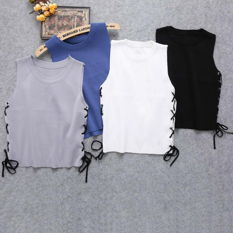 2018 Women Fashion Summer Style Sexy Crop Top Vintage Sleeveless Elasticity  Off Shoulder Tank Tops Bustier Online with  27.86 Piece on Modeng02 s Store  ... 5ae901c54b0c