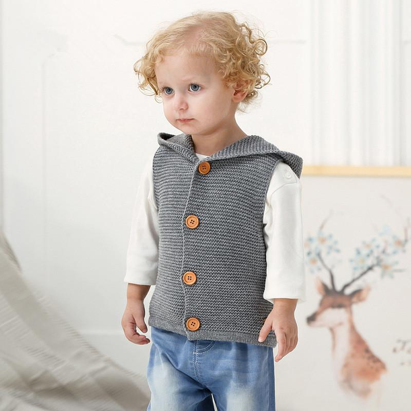 Baby Boys Knitted Sweater Cartoon Newborn Girls Cardigans Acrylic
